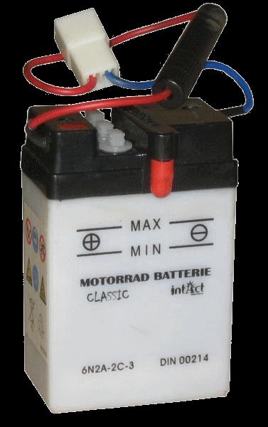 Panther Motorradbatterie 6V 2Ah 00214 6N2A-2C-3